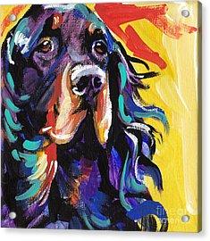 I Love Gordon Acrylic Print by Lea S