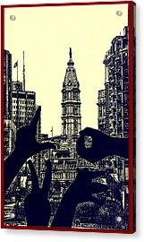 I Love Philly Acrylic Print by Bill Cannon