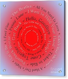 I Love The Beatles 5  Acrylic Print by Andee Design