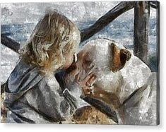 I Love You Acrylic Print by Georgi Dimitrov