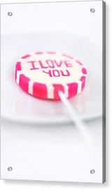I Love You My Sweet Acrylic Print by Gynt