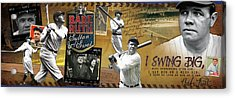 I Swing Big Babe Ruth Acrylic Print by Retro Images Archive