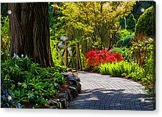 I Walk Through The Garden Alone Acrylic Print by Jordan Blackstone