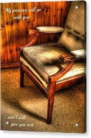 I Will Give You Rest Acrylic Print by Anne Macdonald