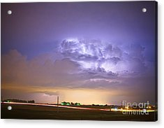 I25 Intra-cloud Lightning Strikes Acrylic Print by James BO  Insogna