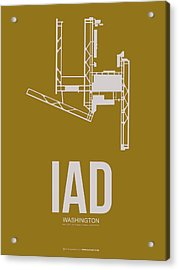 Iad Washington Airport Poster 3 Acrylic Print by Naxart Studio