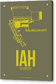 Iah Houston Airport Poster 2 Acrylic Print by Naxart Studio