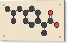 Ibuprofen Inflammation Drug Molecule Acrylic Print by Molekuul