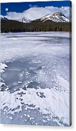 Ice And Snow Of Brainard Lake Acrylic Print by Benjamin Reed
