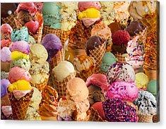 Ice Cream Crazy Acrylic Print by Alixandra Mullins