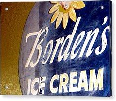 Ice Cream Sign Acrylic Print by Dorothy Menera