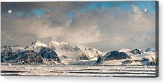 Ice Floes And Storm Clouds In The High Acrylic Print by Panoramic Images