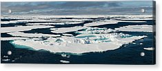 Ice Floes On The Arctic Ocean Acrylic Print by Panoramic Images