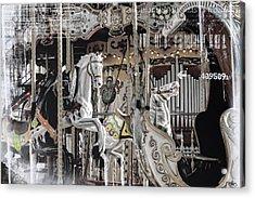 Ice On My Carousel Acrylic Print by Evie Carrier