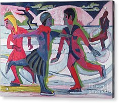 Ice Skaters  Acrylic Print by Ernst Ludwig Kirchner