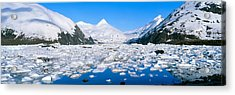 Icebergs In Portage Lake And Portage Acrylic Print by Panoramic Images