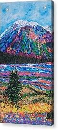 Icefields Alberta Mountain Acrylic Print by Joyce Sherwin