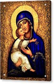 Icon Madonna Acrylic Print by Ananda Vdovic