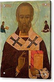 Icon Of St. Nicholas Acrylic Print by Russian School