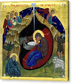 Icon Of The Nativity Acrylic Print by Juliet Venter