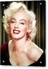 1950s Portraits Acrylic Print featuring the digital art Iconic Marilyn Monroe by Georgia Fowler