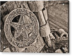 Iconic Texas Bw Acrylic Print by JC Findley