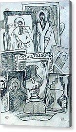 Icons Acrylic Print by Anita Dale Livaditis
