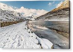 Icy Lake Acrylic Print by Adrian Evans