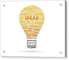 Ideas Acrylic Print by Aged Pixel