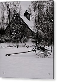Idle Time - Waiting For Spring Acrylic Print by Steven Milner