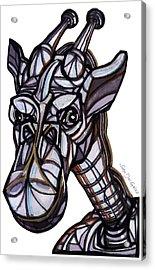 iGiraffe Acrylic Print by Del Gaizo