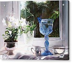 Il Calice Blu Acrylic Print by Danka Weitzen