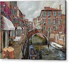 Il Fosso Ombroso Acrylic Print by Guido Borelli