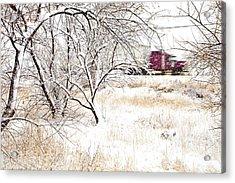 I'll Be Home For Christmas Acrylic Print by Theresa Tahara