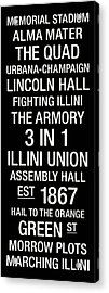 Illinois College Town Wall Art Acrylic Print by Replay Photos