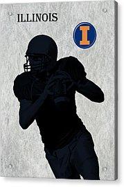 Illinois Football Acrylic Print by David Dehner