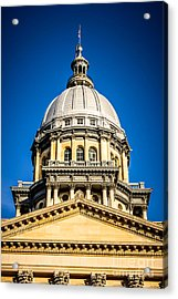 Illinois State Capitol Dome In Springfield Illinois Acrylic Print by Paul Velgos