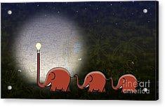 Illumination Acrylic Print by Sassan Filsoof