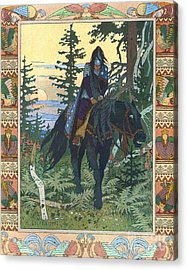 Illustration For Vasilisa The Beautiful Acrylic Print by Pg Reproductions