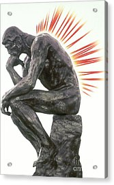 Illustration Of Back Pain Acrylic Print by Dennis Potokar