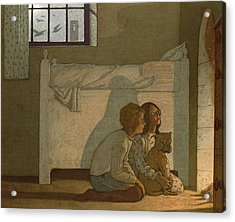 Illustration To Maeterlinck's The Bluebird Acrylic Print by Frederick Cayley Robinson