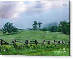 Imaginary Morning On The Blue Ridge I Acrylic Print by Dan Carmichael