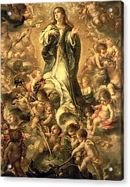 Immaculate Conception Acrylic Print by Juan de Valdes Leal