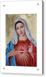 Immaculate Heart Of Mary Acrylic Print by Janeta Todorova