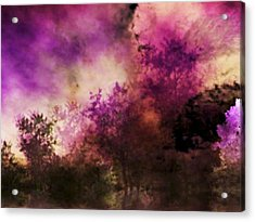 Impressionism Style Landscape Acrylic Print by Maggie Vlazny