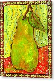 Impressionist Style Pear Acrylic Print by Blenda Studio