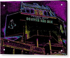 Impressionistic Fenway Park Acrylic Print by Gary Cain