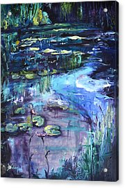 Impressions Of Giverny Acrylic Print by Donna Tuten