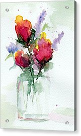 In A Vase Acrylic Print by Anne Duke