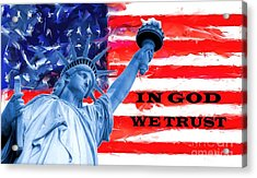 In God We Trust Acrylic Print by Brian Raggatt